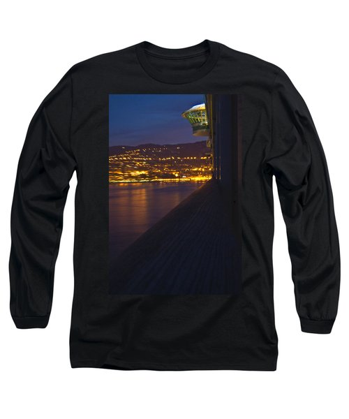 Alien Spacecraft Over Villefranche Long Sleeve T-Shirt