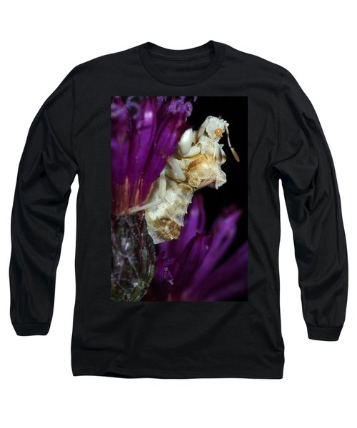 Long Sleeve T-Shirt featuring the photograph Ambush Bug On Ironweed by Daniel Reed