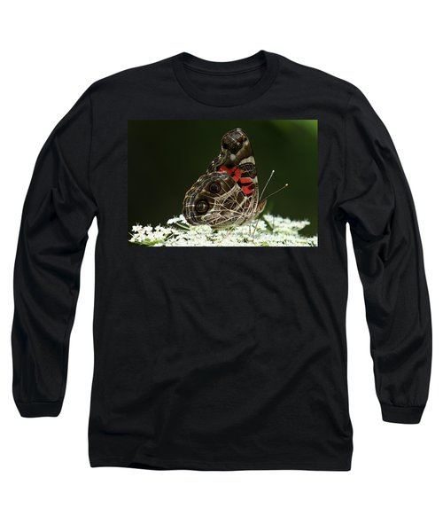 American Painted Lady Butterfly Long Sleeve T-Shirt