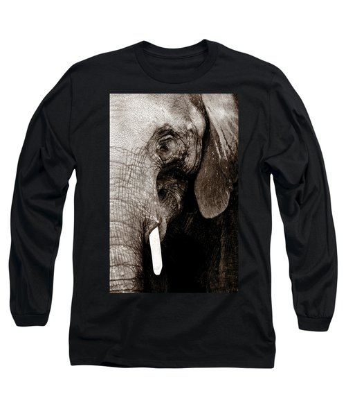 Ancient Face Long Sleeve T-Shirt by Angela Rath