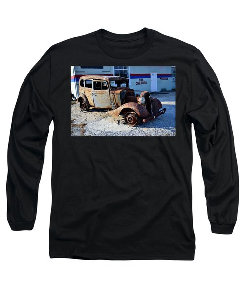 Long Sleeve T-Shirt featuring the photograph ...and Rotate The Tires by Larry Bishop