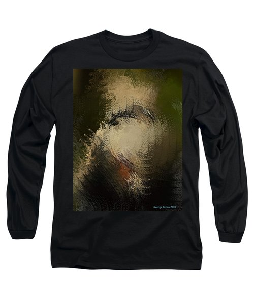 Long Sleeve T-Shirt featuring the painting Angry Monkey by George Pedro