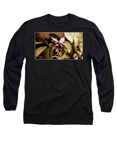 Long Sleeve T-Shirt featuring the photograph Antiqued Fuchsia by Jeanette C Landstrom