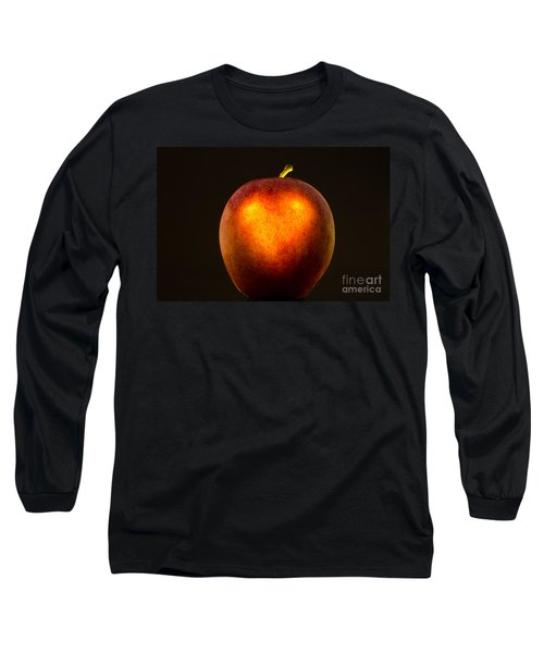 Apple With A Illuminated Heart Long Sleeve T-Shirt