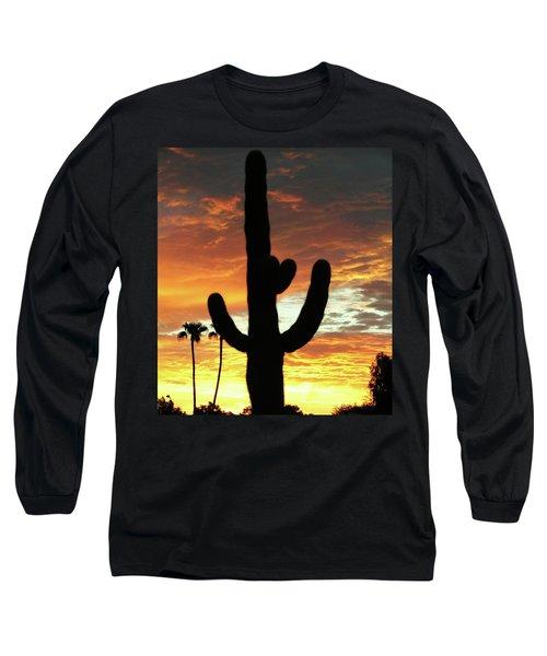 Arizona Sunrise 01 Long Sleeve T-Shirt by Rand Swift