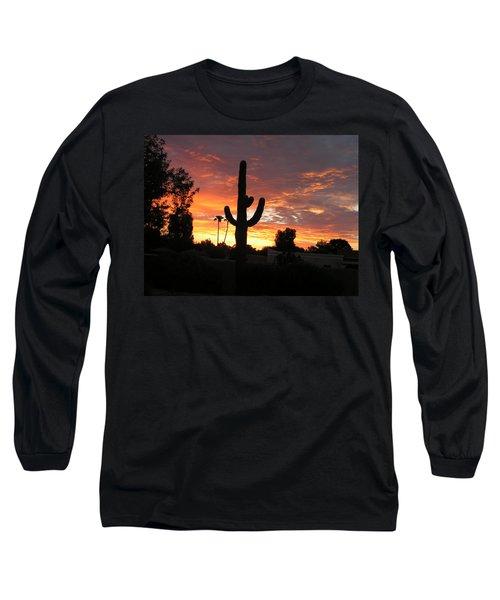 Arizona Sunrise 03 Long Sleeve T-Shirt by Rand Swift