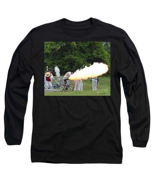 Long Sleeve T-Shirt featuring the photograph Artillery Demonstration by JT Lewis