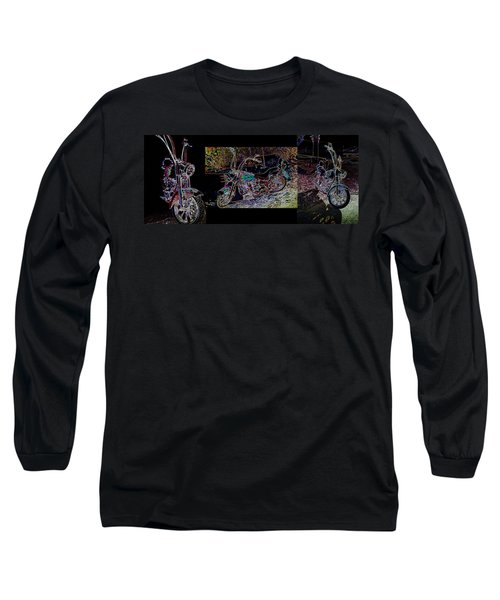 Artistic Harley Montage Long Sleeve T-Shirt