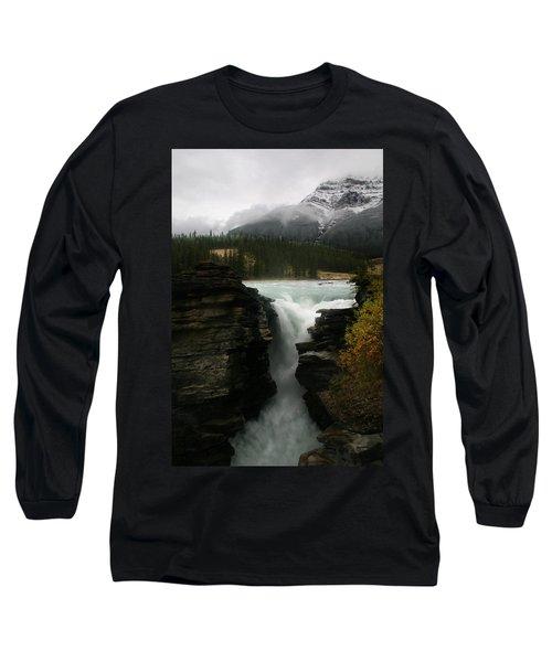 Athabasca Falls Jasper National Park Long Sleeve T-Shirt