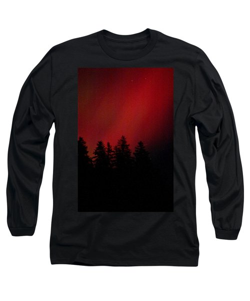 Long Sleeve T-Shirt featuring the photograph Aurora 02 by Brent L Ander