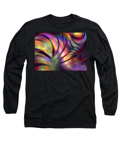 Aurora Borealis Long Sleeve T-Shirt by Kim Sy Ok