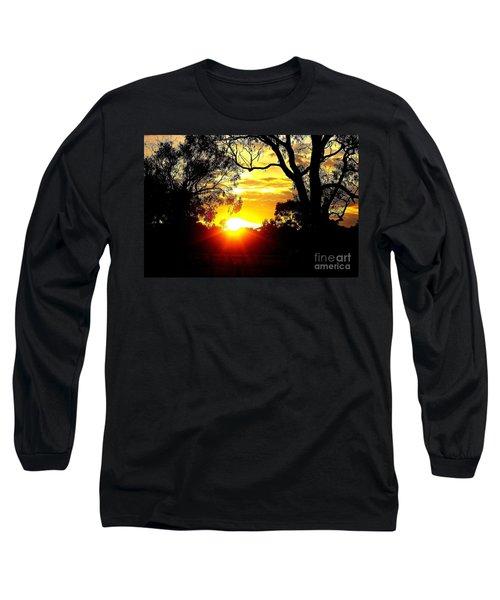 Long Sleeve T-Shirt featuring the photograph Aussie Sunset by Blair Stuart