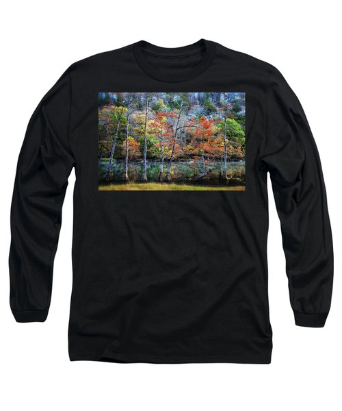 Long Sleeve T-Shirt featuring the photograph Autumn At Beaver's Bend by Tamyra Ayles