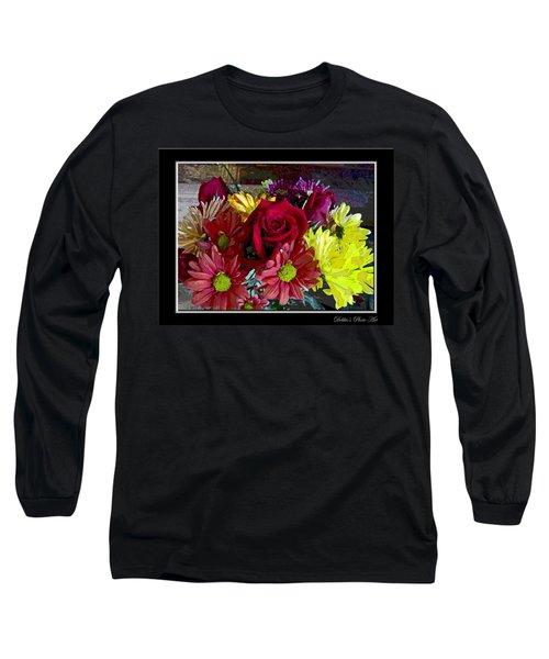 Long Sleeve T-Shirt featuring the digital art Autumn Boquet by Debbie Portwood