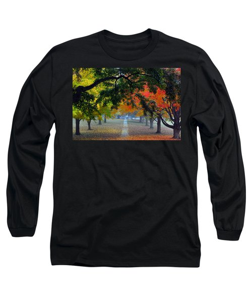 Autumn Canopy Long Sleeve T-Shirt by Lisa Phillips