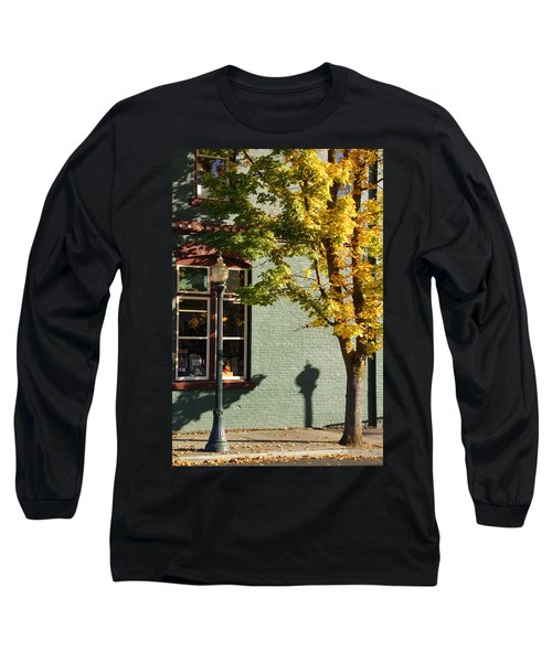 Autumn Detail In Old Town Grants Pass Long Sleeve T-Shirt by Mick Anderson