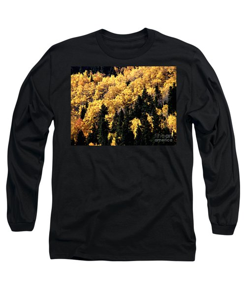 Autumn In Colorado Painting Long Sleeve T-Shirt by Donna Greene