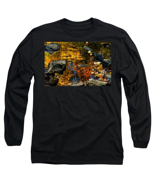 Long Sleeve T-Shirt featuring the photograph Autumn Reflections by Cheryl Baxter