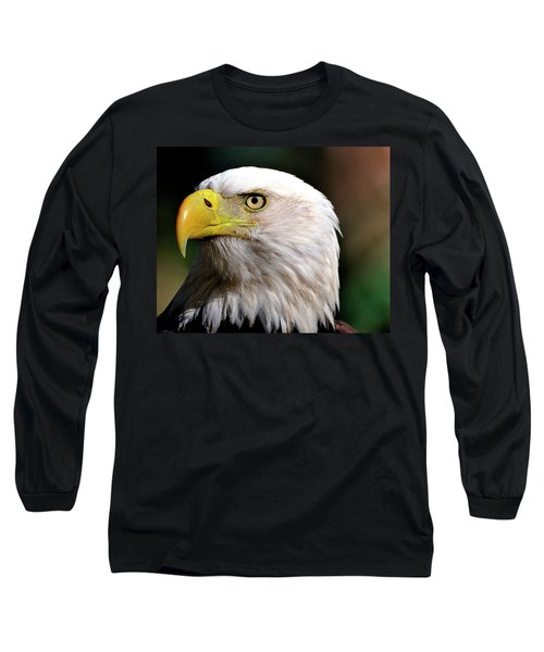 Bald Eagle Close Up Long Sleeve T-Shirt