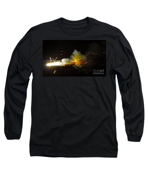 Long Sleeve T-Shirt featuring the painting Bang by Xn Tyler