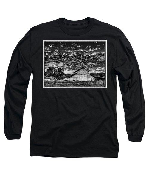 Barn At Sunset Long Sleeve T-Shirt