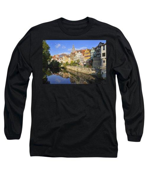 Beautiful German Town Tuebingen - Neckar Waterfront Long Sleeve T-Shirt