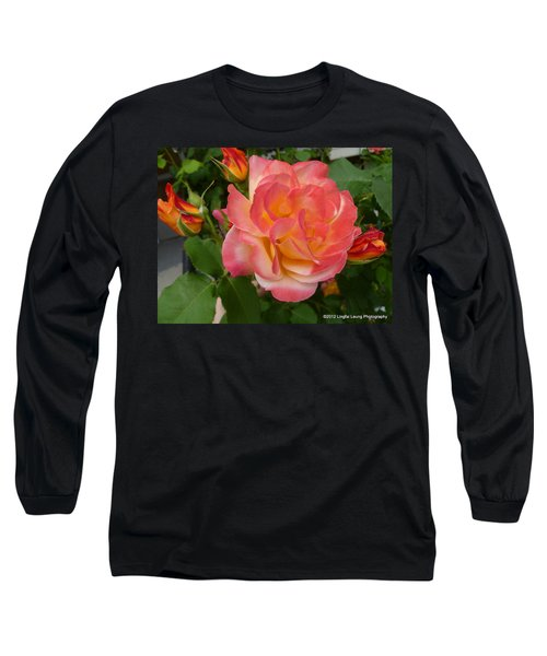 Long Sleeve T-Shirt featuring the photograph Beautiful Rose With Buds by Lingfai Leung
