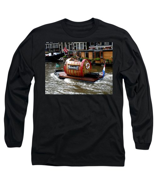 Beer Boat Long Sleeve T-Shirt by Lainie Wrightson