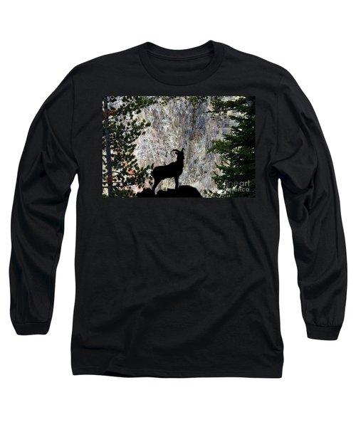 Long Sleeve T-Shirt featuring the photograph Big Horn Sheep Silhouette by Dan Friend