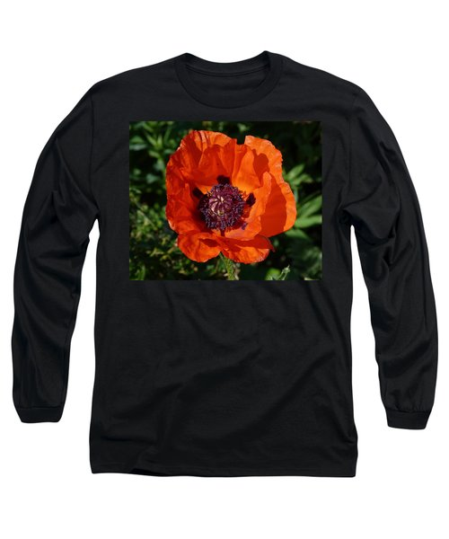 Long Sleeve T-Shirt featuring the photograph Big Red Poppy by Lynn Bolt