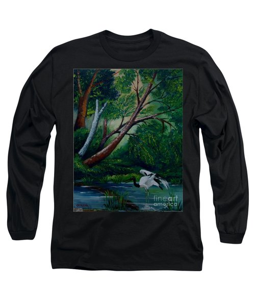 Bird In The Swamp Long Sleeve T-Shirt