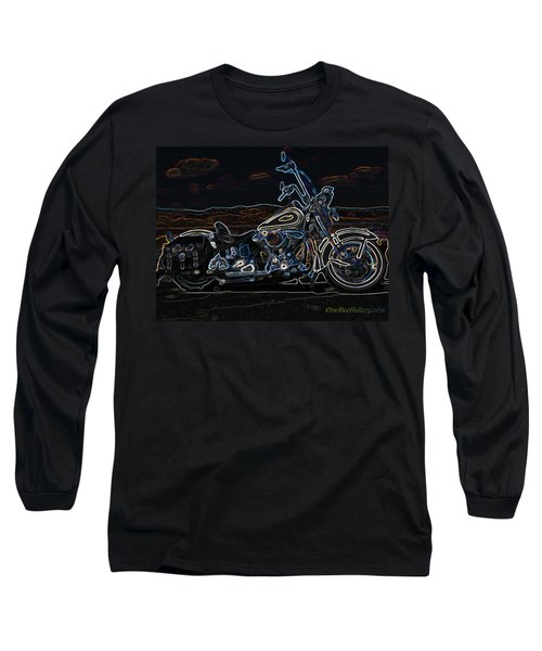 Black And Blue Long Sleeve T-Shirt