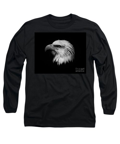 Black And White Eagle Long Sleeve T-Shirt by Steve McKinzie