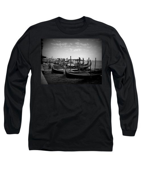 Black And White Gondolas Long Sleeve T-Shirt