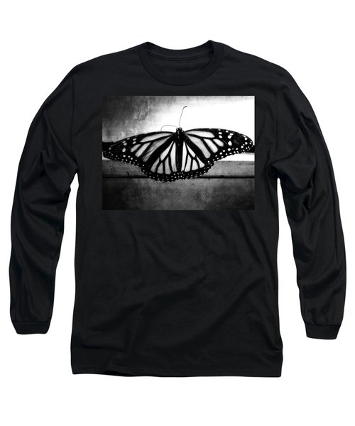 Long Sleeve T-Shirt featuring the photograph Black Butterfly by Julia Wilcox