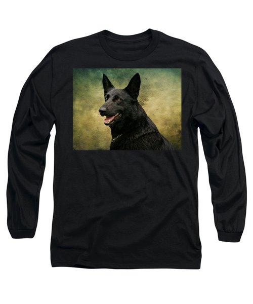 Black German Shepherd Dog IIi Long Sleeve T-Shirt