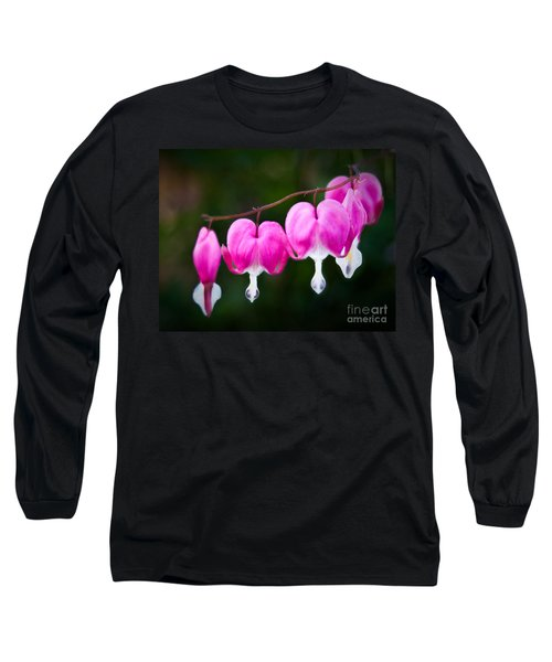 Bleeding Hearts 001 Long Sleeve T-Shirt by Larry Carr