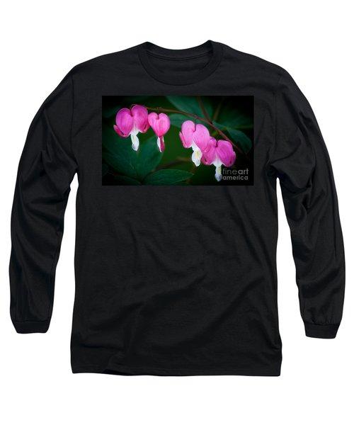 Bleeding Hearts 002 Long Sleeve T-Shirt by Larry Carr