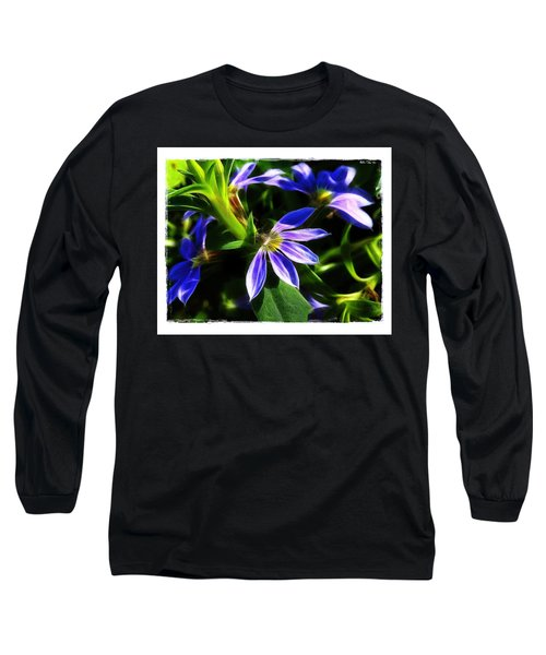 Blue Ballet Long Sleeve T-Shirt by Judi Bagwell