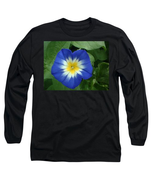 Long Sleeve T-Shirt featuring the photograph Blue Burst by Bonfire Photography