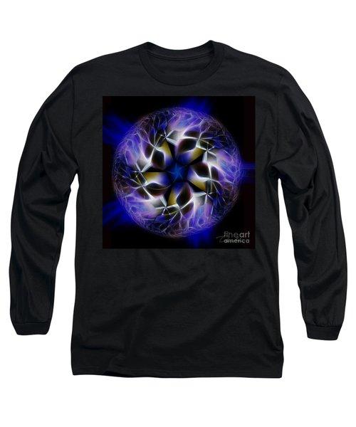 Blue Creation Long Sleeve T-Shirt by Danuta Bennett