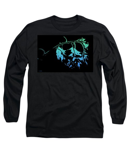 Blue On Black Long Sleeve T-Shirt