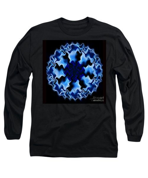 Blue Ripple Long Sleeve T-Shirt