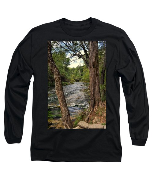 Long Sleeve T-Shirt featuring the photograph Blue Spring Branch by Marty Koch