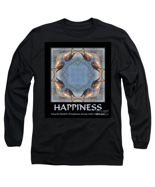 Bluebird Kaleidoscope Happiness Long Sleeve T-Shirt by Smilin Eyes  Treasures