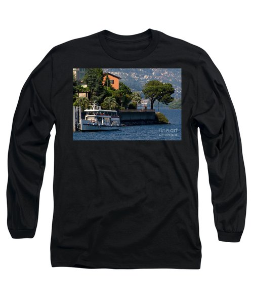 Boat And Tree Long Sleeve T-Shirt