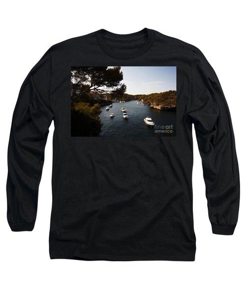 Boats In Cala Figuera Long Sleeve T-Shirt