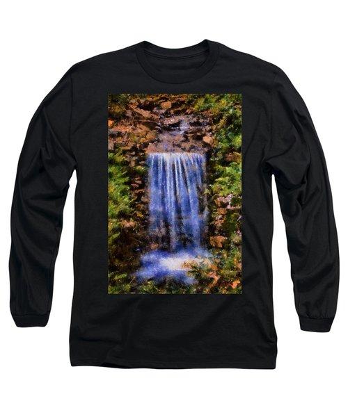 Long Sleeve T-Shirt featuring the digital art Botanical Garden Falls by Lynne Jenkins