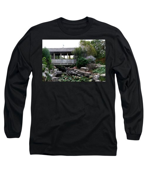 Long Sleeve T-Shirt featuring the photograph Bridge Over Water by Elizabeth Winter