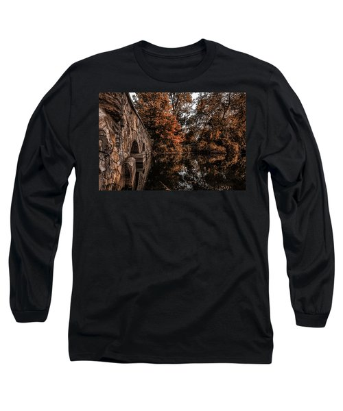 Long Sleeve T-Shirt featuring the photograph Bridge To Autumn by Tom Gort